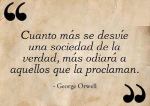 Orwell desviarse la sociedad de la verdad