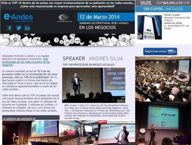 Seminario Uso Profesional de las Redes Sociales para los Negocios, Chile Digital - SOFOFA 12 de marzo de 2014