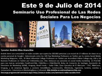 Cuarta Versión Seminario Uso Profesional de Las Redes Sociales Para Los Negocios.