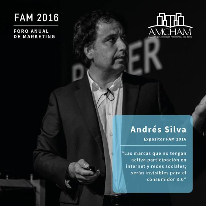 Andrés Silva Arancibia Foro Anual de Marketing FAM 2016 Lima Perú