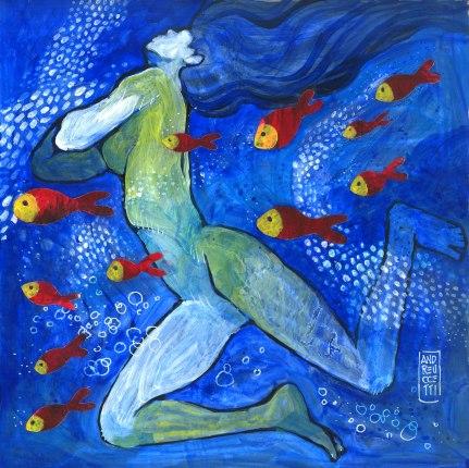 Sirene e pesci rossi