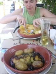 Bacallà amb patates. Lisboa. Portugal