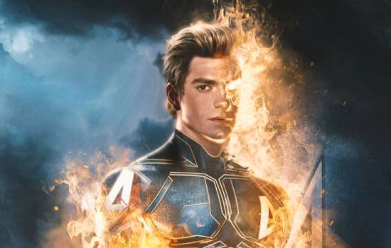 Andrew Garfield Joins The MCU As The Human Torch In New Fantastic Four Artwork