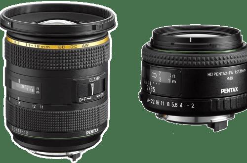 Объектив Pentax FA 35 мм-F/2.0, Объектив Pentax FA 11-18 мм F/2.8