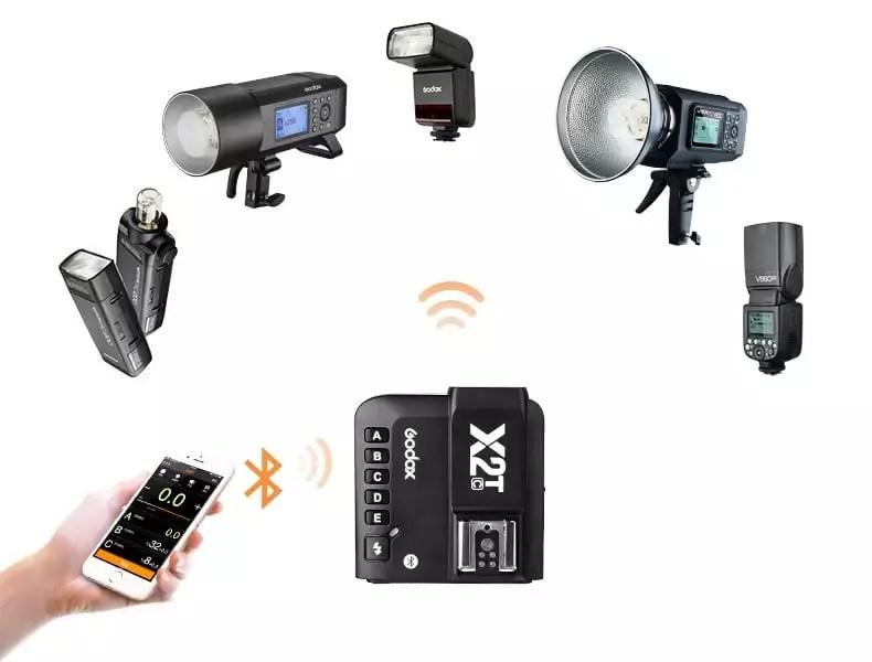 Схема управления радиосинхронизатором вспышек Godox X2 по интерфейсу Bluetooth