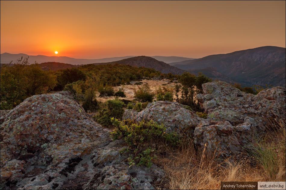 Sunrise near Madzharovo.