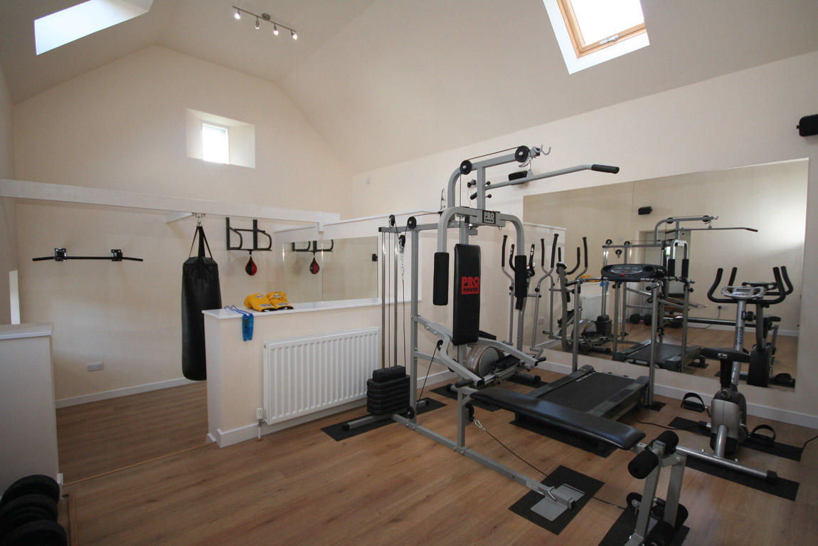 conversion of outbuildings to gym (4)
