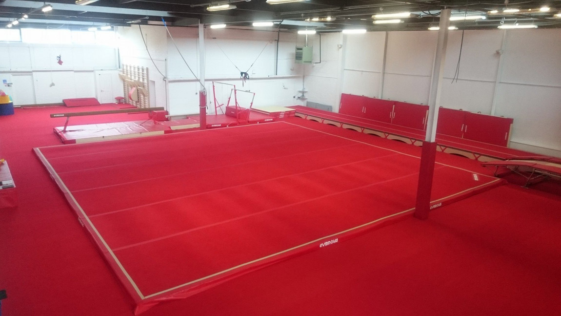 conversion of warehouse to new gymnastics training facilities