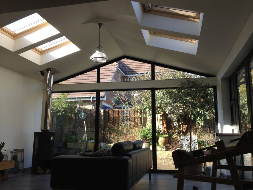 feature glass gable ended extension