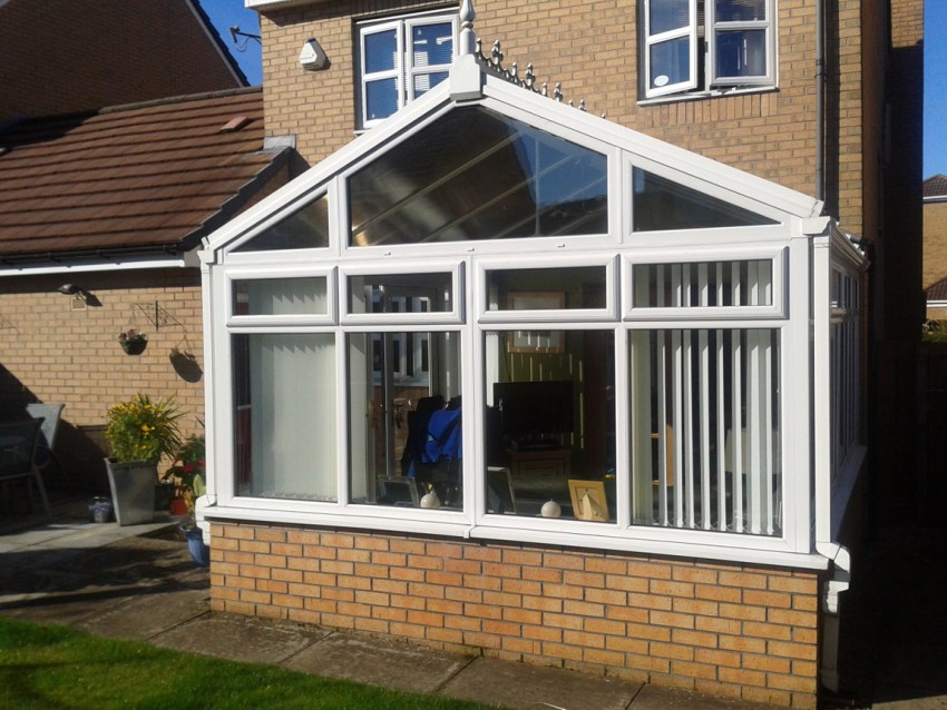 gable front conservatory extension in white pvcu (2)