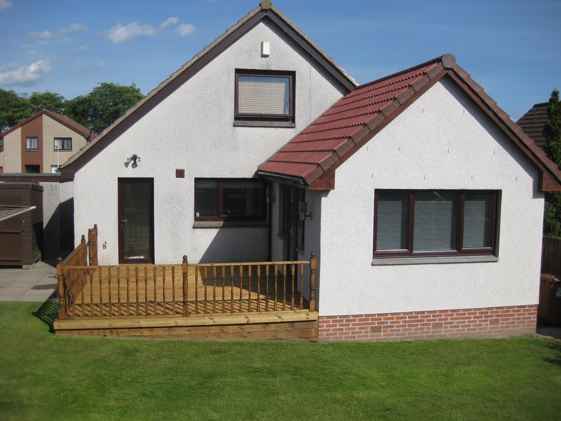 house extension with matching facing brick