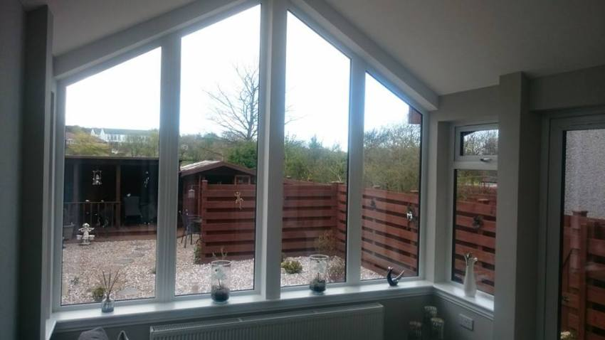 large glass fronted extension