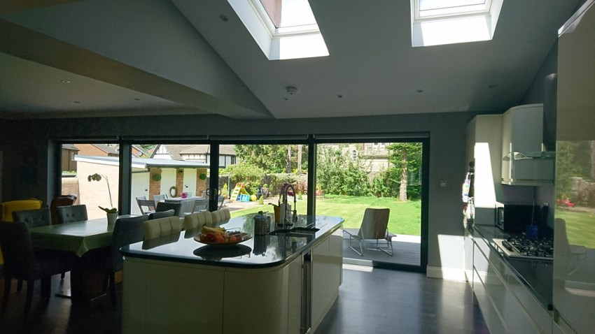 open plan kitchen dining living space extension