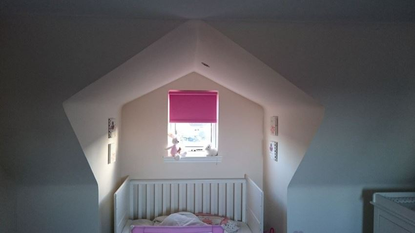 optical illusion of star shaped dormer