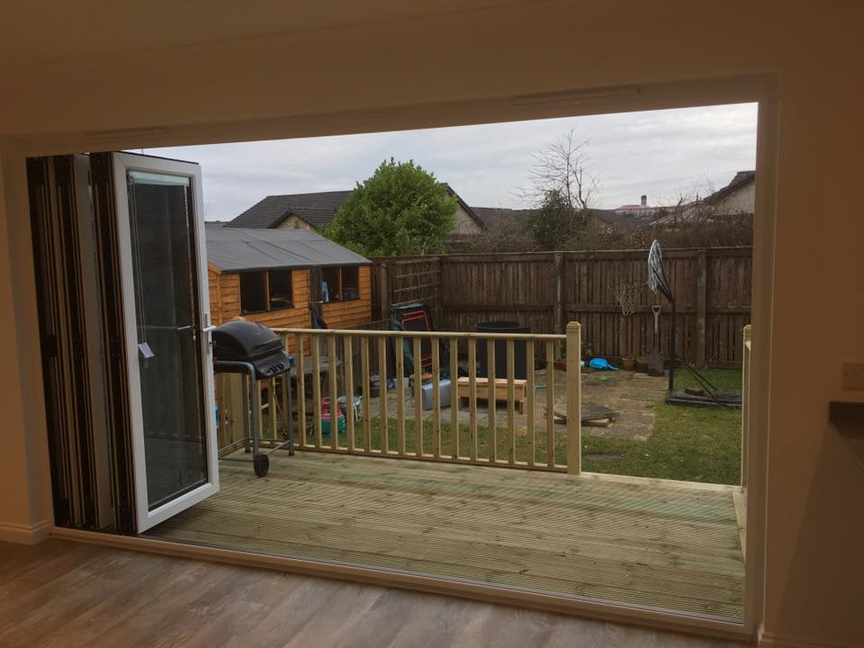 removal of external wall to accept new bi-fold doors