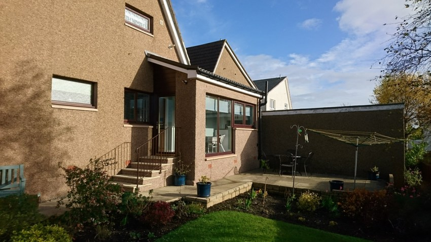 single storey wrap around extension with view point