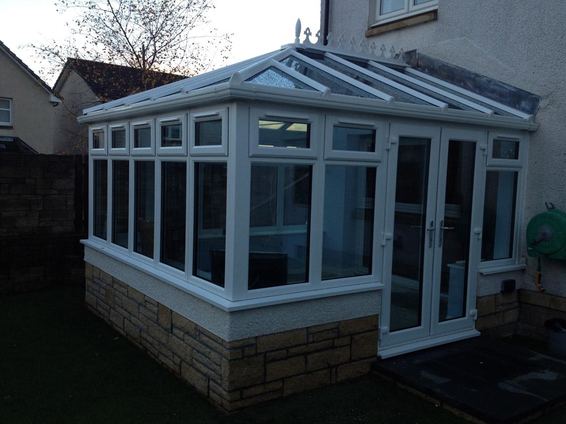 triple glazed white pvcu conservatory