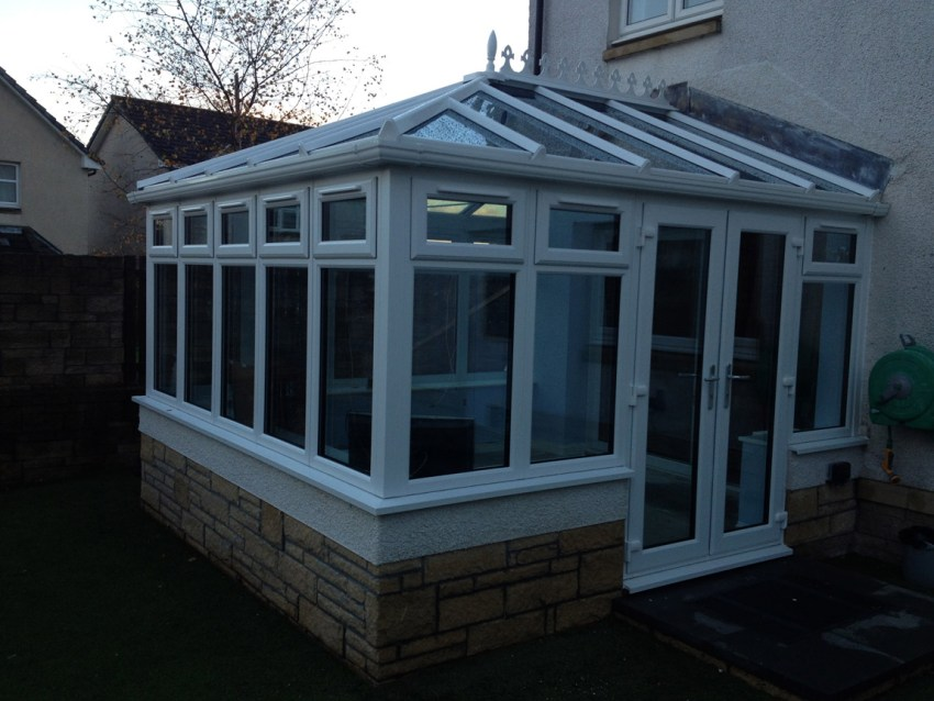 triple glazed white pvcu conservatory