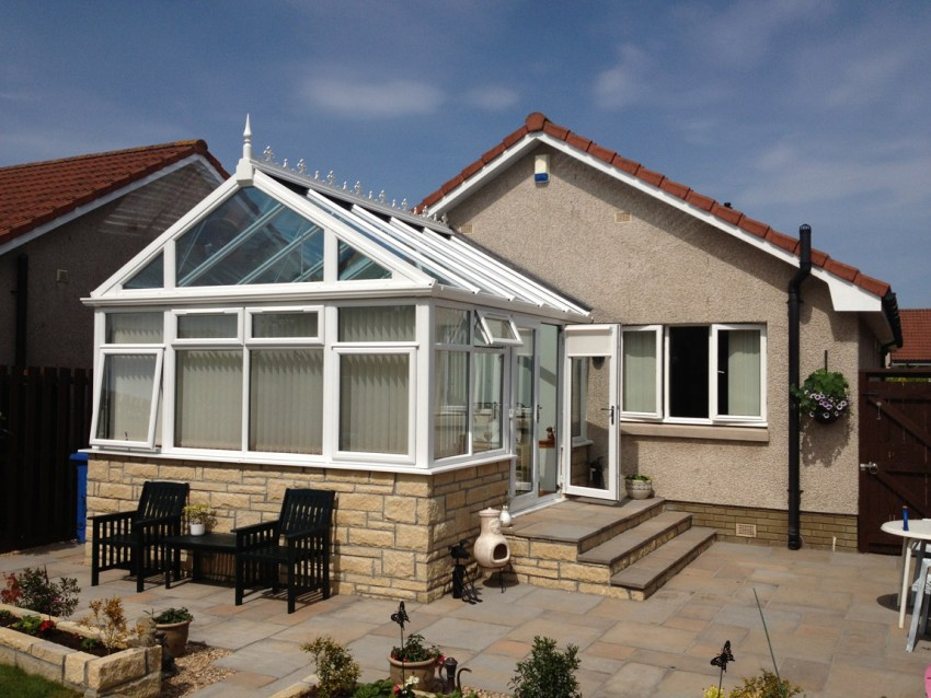 white pvcu gable fronted conservatory
