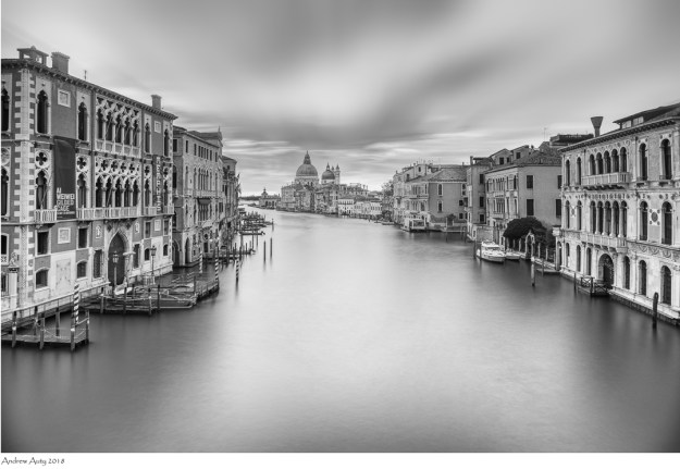 The Grand Canal from Accademia Bridge in Venice