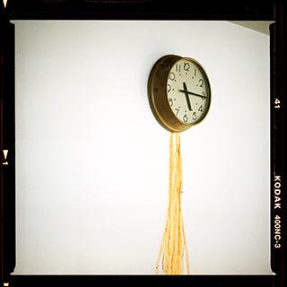 'Male Artists' Dressing Room (Clock)' from 'STILL' by Roelof Bakker