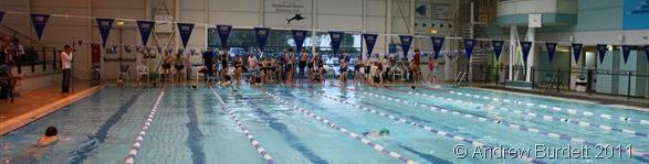 SPLOSH FOR DOSH_Swimmers raising money whilst exercising at the Maidenhead Magnet.