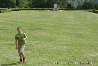 RUN FOR IT_Daniel, 10, makes his way down the home straight, during a running race on the lawn.