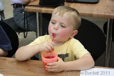 DRINK IT UP_Joesph, four, slurps up a drink.