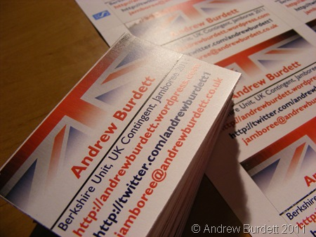 A PLEASURE DOING BUSINESS_The printed business cards, with my contact details on.