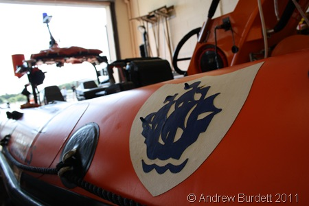 THE GOOD SHIP BLUE PETER_The Blue Peter lifeboat at Littlehampton RNLI station.
