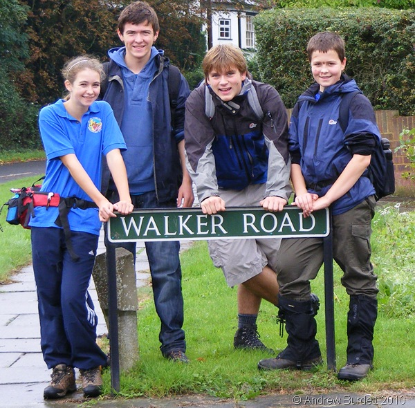 BEST FOOT FORWARD_Four of the Berkshire Unit participate in the Maidenhead Boundary Walk.
