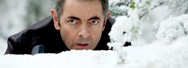 IT'S COOL TO BE A SPY_Johnny English surrounded by Swiss snow towards the end of the film.