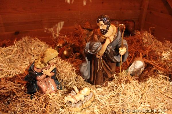 CHRISTMAS CRIB SCENE_Taken at St Luke's, this is the Christmas nativity scene under the High Altar this Christmastime.