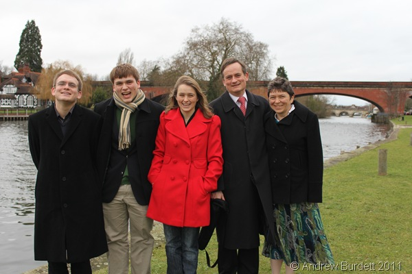 HAPPY CHRISTMAS_Our annual riverside family photograph for the year of 2011.