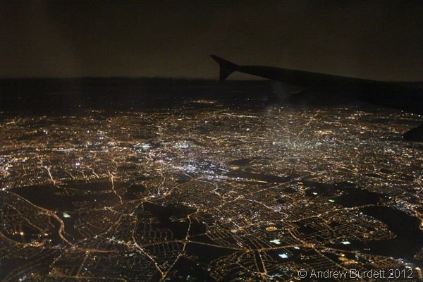 THE STREETS I USED TO LOVE: Flying in over a clear London, near the end of our journey together. (IMG_8280)