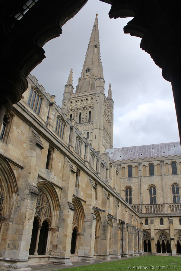 INSPIRING: The huge spire of the cathedral, seen from the cloisters. (160_IMG_1885_ARB)