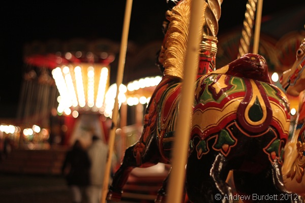 HORSING AROUND: One of the gallopers at the fair. (IMG_2839)