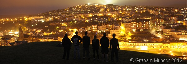 HEROES: The six of us Explorers looking out over Ilfracombe. (0398_20120807_DSC3228_GrahamMuncer)