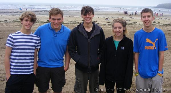 BEACH KIDS: From L, Ed, myself, Josh, Madi, and Matt. (0439_DSCF1788_DanniPaul)