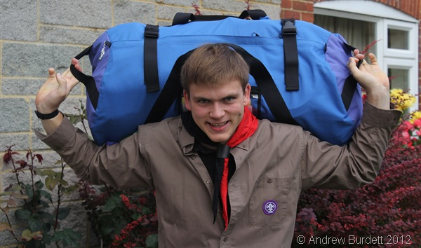 LEAVING WITH A HEAVY HEART (AND BACKPACK): This photo was taken just before I set off this morning. (IMG_0228)