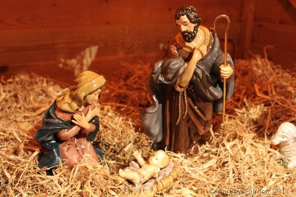 IT'S A BOY: The Christmas Crib scene at St Luke's Church, Maidenhead, last year. (IMG_0086)