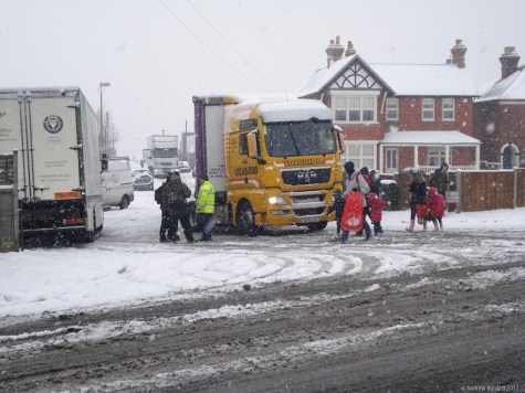 HGV drivers struggled to get out of the Furze Platt Road industrial estate.