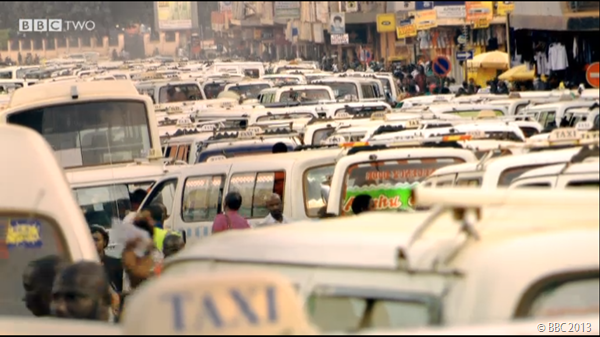 QUITE A JAM: The traffic jam depicted was unbelievable.