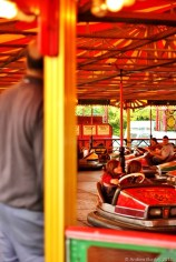 BUMPER DAY: The Dodgems didn't get much busier than this all afternoon.