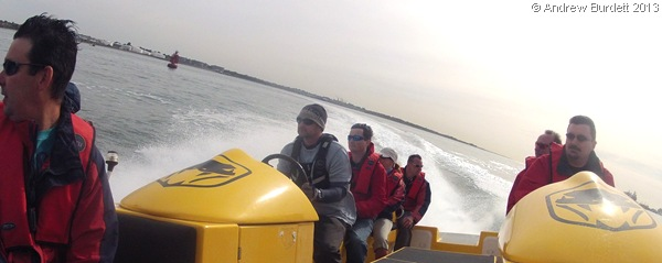 POWERRR: The speedboat was capable of speeds of up to 35 knots. (GOPR7918)