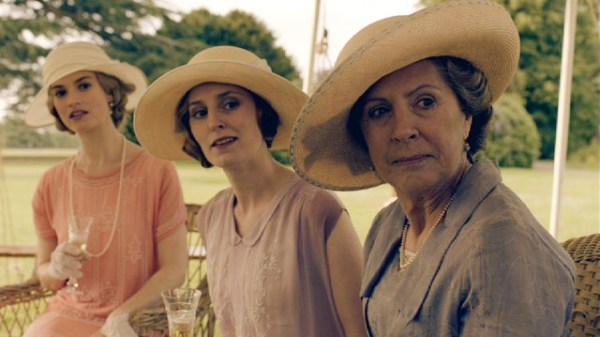 Rose, Edith, and Isobel Crasley, in a screenshot from ITV's Downton Abbey.