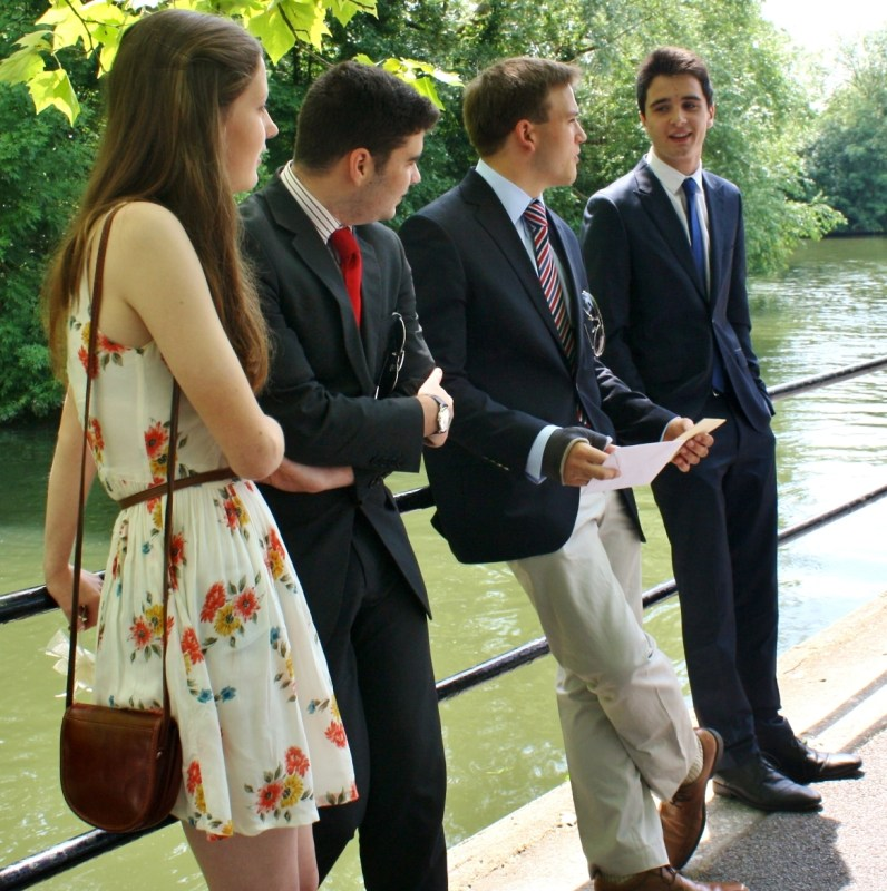 Andrew Burdett and friends pictured awaiting the arrival of other guests, at Andrews 18th birthday party.