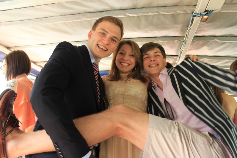 In the latest recurrence of an annual recreation of a 2010 photograph, Andrew Burdett with friends Lorna Young and Zac Brooke.