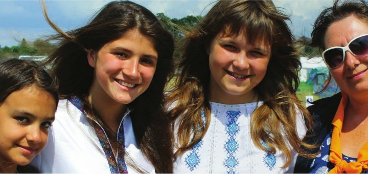 Guides from Ukraine - dressed in traditional national dress - at WINGS2014 on Wednesday.