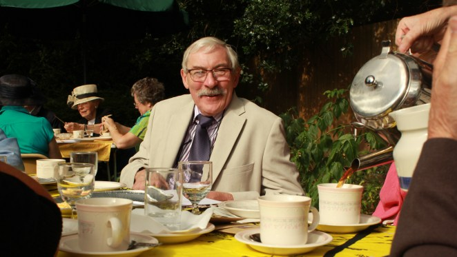 Don Luff was all smiles at the garden party.